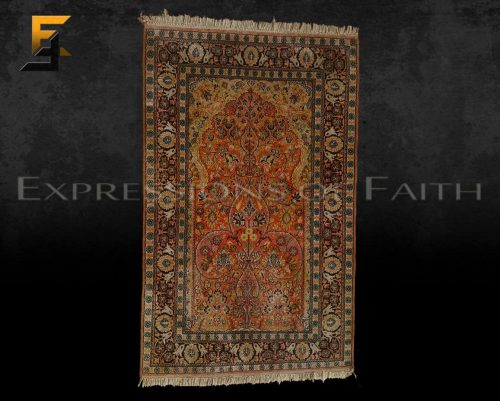 Indian Kashmir Silk Prayer Rug